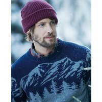 Dark Wine Bamburgh Knitted Hat  Size One Size