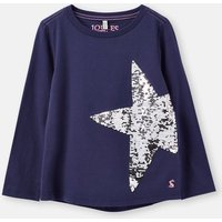 Navy Star Ava Applique T-Shirt 3-12 Years  Size 5Yr