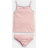 Cream Pink Stripe Melody Vest And Pant Set 3-12 Yr  Size 7Yr-8Yr