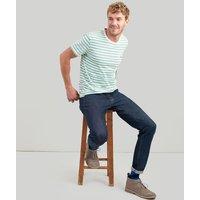 Cream Green Stripe Boathouse Tee Striped Crew Neck T-Shirt  Size L