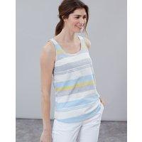 Blue Grey Lemon Stripe Bo Stripe Jersey Vest  Size 16