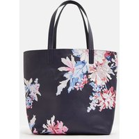 French Navy Whitstable Floral 204703 Reversible Printed Pu Bag  Size One Size