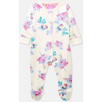 CREAM MARGATE POSY 203974 Long Sleeve Babygrow with Feet  Size 6m-9m