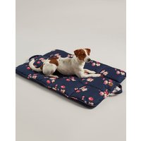 Navy Floral Floral Travel Pet Bed  Size One Size