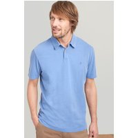 POWDER BLUE Laundered polo Relaxed Fit Polo Shirt  Size L