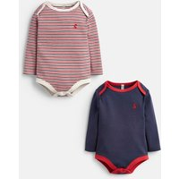 French Navy Snazzy 2 Pk Jersey Babygrows  Size 12M-18M