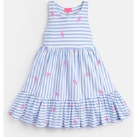 Blue Lobster Stripe Juno Peplum Midi Dress 3-12 Yr  Size 11Yr-12Yr