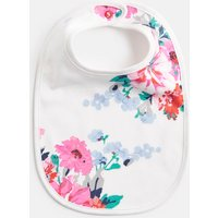 White Small Floral Oops Printed Bib  Size One Size