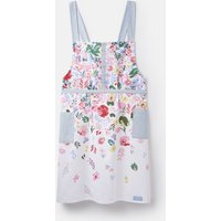 WHITE FLORAL Kitchen crossover apron Pinafore-Style  Size One Size
