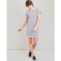CREAM NAVY STRIPE Riviera Dress With Short Sleeves  Size 6
