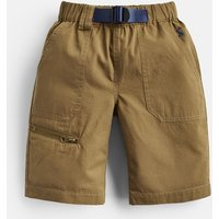 Olive Sam Woven Shorts And Belt 3-12 Yr  Size 11Yr-12Yr