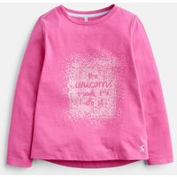 Bright Pink 204605 Long Sleeve Graphic Tee  Size 4Yr