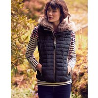 Maybury Chevron Quilted Padded Gilet with Hood