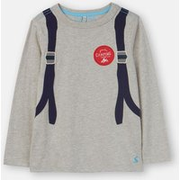 Grey Backpack Animate Applique T-Shirt 1-6 Years  Size 4Yr