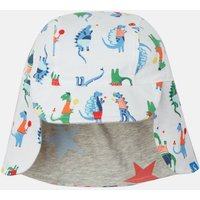 WHITE SPORT DINO Sunny Reversible Hat  Size 0m-6m