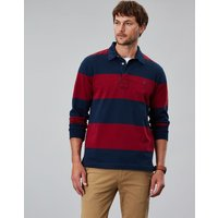 Red Block Stripe Onside Long Sleeve Stripe Rugby Shirt  Size Xxxl