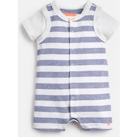White Blue Multi Stripe Jonah Jersey Babygrow And Top Set  Size 9M-12M