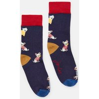 Navy Dogs Neat Feet Character Intarsia Socks  Size Childrens 9-12