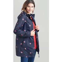 NAVY POSY Dockland Reversible Waterproof Raincoat  Size 8