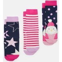 Owlstar 3Pk 207851 Three Pack Socks  Size Childrens 9-12