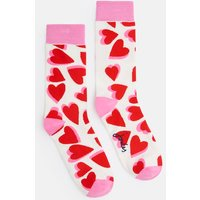 CREAM LOVE HEARTS Brilliant bamboo Socks  Size One Size