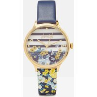 NAVY FLORAL Ambleside navy Womens Printed Strap Watch  Size One Size