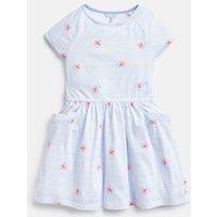 Blue Posy Stripe Jude Jersey Raglan Sleeve Dress 3-12 Yr  Size 6Yr