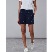 Navy Bee Cruise Embroidered Mid Thigh Length Chino Shorts  Size 10