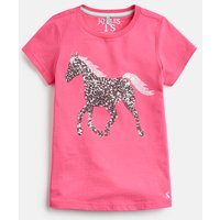 HOT PINK HORSE Astra JERSEY APPLIQUE TOP 3-12yr  Size 9yr-10yr