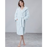 Blue Stripe Rita Fluffy Dressing Gown  Size S-M
