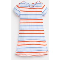 Blue Multi Stripe Riviera Short Sleeve Dress 3-12 Yr  Size 5Yr