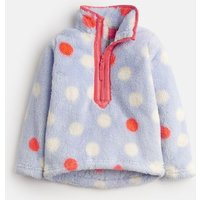 Sky Blue Multi Spot Merridie Fluffy Fleece Sweatshirt 1-12 Yr  Size 5Yr