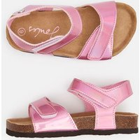 METALLIC PINK Tippy toes Strapped Sandal  Size Childrens 12