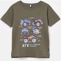 Castaway Slim Fit Screenprint T-Shirt 1-12 Years