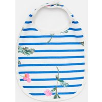 WHITE STRIPE FLORAL Oops PRINTED BIB  Size One Size