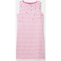 Pink Star Stripe 204554 Sleeveless Printed Jersey Dress