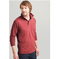 RED Ruckbury Long Sleeve Plain  Rugby Shirt  Size S