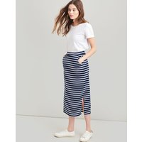 NAVY CREAM STRIPE Amara Jersey Midi Skirt  Size 14