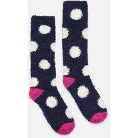 NAVY SPOT Fabulously fluffy Socks  Size 4-8