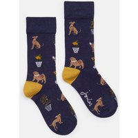 NAVY DOGS Brilliant bamboo Single Socks  Size 4-8
