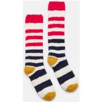 CREAM NAVY STRIPE Fabulously fluffy Socks  Size 4-8