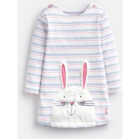 Blue Multi Stripe Bunny Kaye Applique Dress  Size 18M-24M