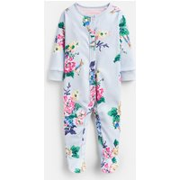Light Blue Rabbit Floral Razamataz Printed Babygrow  Size Newborn