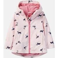 Chalky Pink Dog Raindance Print Showerproof Rubber Coat 1-6 Years