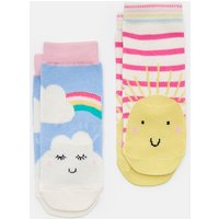 SUNSHINE AND CLOUD 204085 Character Socks Two Pack  Size 6m-12m