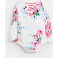 WHITE SMALL FLORAL Snazzy JERSEY PRINTED BODYSUIT  Size 3m-6m