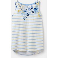 White Yellow And Blue Rose Stripe 204538 Basic Stripe Vest  Size 14