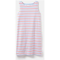Blue Red Stripe 204553 Sleeveless Jersey Dress  Size 8