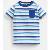 BLUE YELLOW STRIPE Caspian Stripe T-Shirt 1-6Yr  Size 5yr