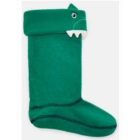 Green Dinosaur Smile Character Welly Liners  Size Junior 4-7